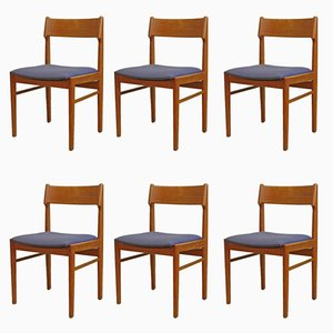 Vintage Teak Dining Chairs, Set of 6