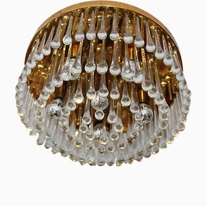 Vintage Murano Raindrop or Waterfall Ceiling Lamp, 1960s