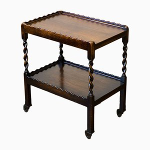 Vintage Jacobean Style Oak Tea Trolley