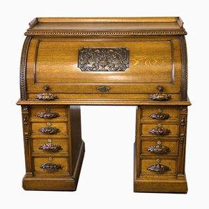 Antique Victorian Oak Secretaire