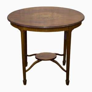 Edwardian Mahogany Sheraton Revival Occasional Table