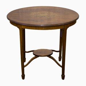 Table d'Appoint Sheraton Revival Édouardienne en Acajou