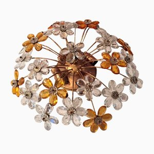 Mid-Century Floral Ceiling Lamp by Christoph Palme, 1950s