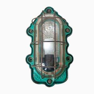 Antike industrielle Wandlampe von Perfeclair Paris