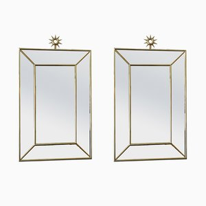 Large Italian Mirrors, 1980s, Set of 2