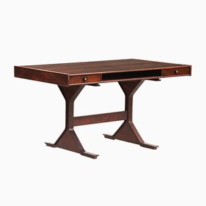 Rosewood Writing Desk by Gianfranco Frattini for Bernini, 1957
