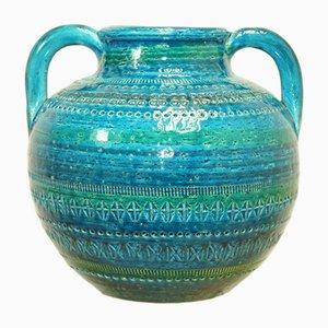 Italienische Keramikvase von Bitossi, 1960er