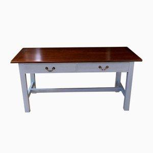 Bemalter Vintage Tisch mit 2 Schubladen