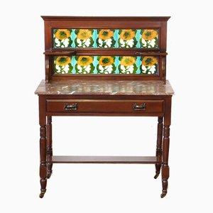 Mueble para el aseo victoriano de caoba