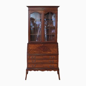 Antikes Sekretär-Bücherregal aus Mahagoni