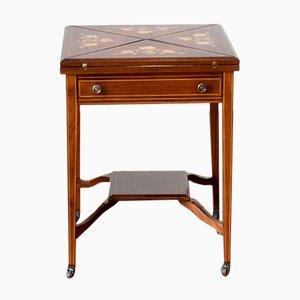 Tavolo da gioco edoardiano antico