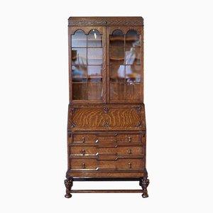 Vintage Sekretär-Bücherregal aus Eiche