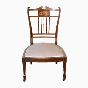 Low Antique Edwardian Mahogany Chair