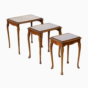 Walnut Nesting Tables, 1920s