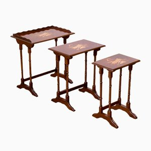 Mahogany Nesting Tables, 1960s