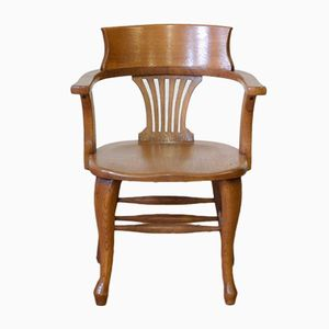 Edwardian Oak Desk Chair