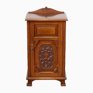 Edwardian Walnut Bedside Cupboard