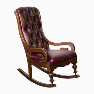 Victorian Mahogany Fish Tail Rocker, 1870