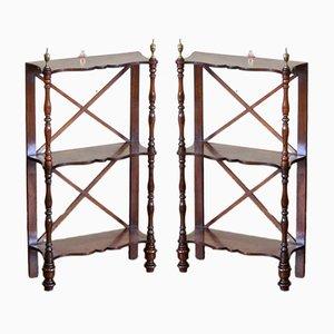 Regency Wall Shelves, 1820s, Set of 2
