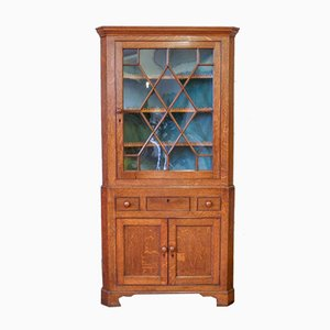 Georgian Oak Corner Cupboard, 1800s