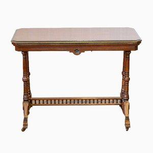 Antiker Kartentisch aus Nussholz