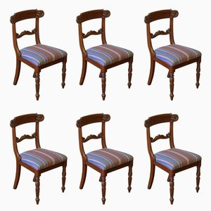 William IV Mahogany Chairs, 1835, Set of 6