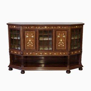 Mueble auxiliar antiguo de caoba de T. Simpson & Sons