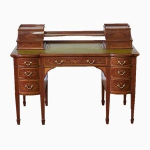 Edwardianischer Schreibtisch aus Mahagoni von Edwards & Roberts