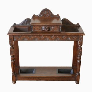 Victorian Oak Umbrella Stand, 1880s