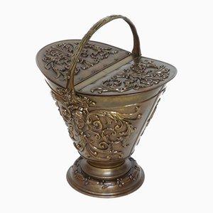 Viktorianischer Kohleneimer aus Messing von Benham & Froud