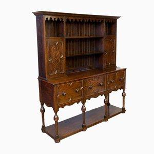 Large Victorian Jacobean Style Oak Sideboard