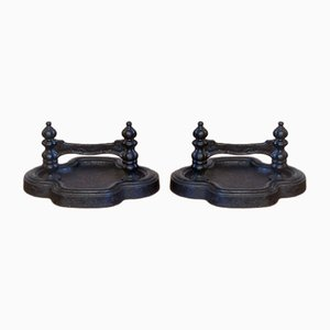 Vintage Cast Iron Boot Scrapers, Set of 2