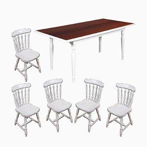 Mid-Century Esstisch mit 5 Stühlen