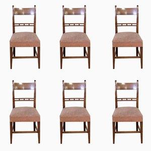 Georgian Mahogany Chairs, 1800s, Set of 6