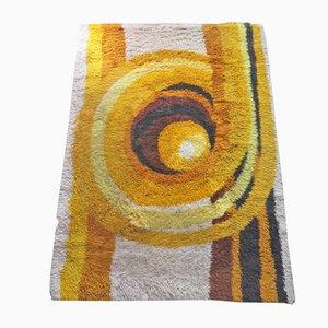 Tappeto grande vintage in lana, anni '70