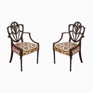 Edwardianische Stühle aus Mahagoni, 2er Set