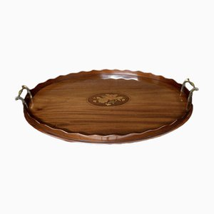 Edwardian Mahogany Drinks Tray