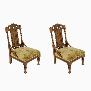 Victorian Side Chairs, Set of 2