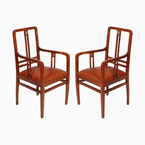 Armchairs by Josef Hoffmann for Wiener Werkstätte, 1905, Set of 2