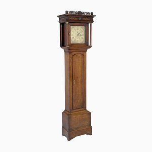 Antique Oak Longcase Clock from Edwin Hallum of Lutterworth