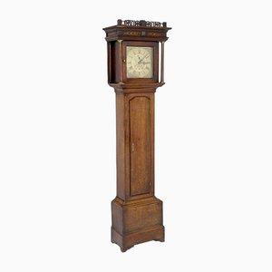 Horloge Longue Antique en Chêne de Edwin Hallum de Lutterworth