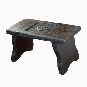Antique Oak Milking Stool