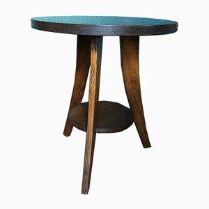 Art Deco Pedestal Table, 1940s