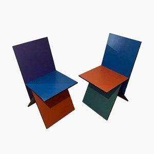 Bunte Vilbert Stühle von Verner Panton für Ikea, 1993, 2er Set