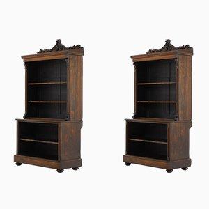 Englische Bücherregale aus Palisander, 2er Set, 19. Jh.