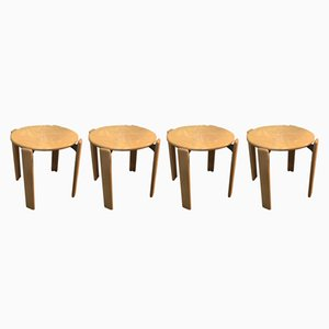 Vintage Stackable Stools by Bruno Rey for Dietiker, 1970s, Set of 4