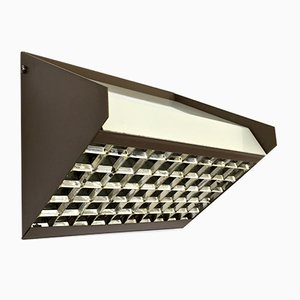 Brown Sloping Wall Lamp from RAAK, 1970s