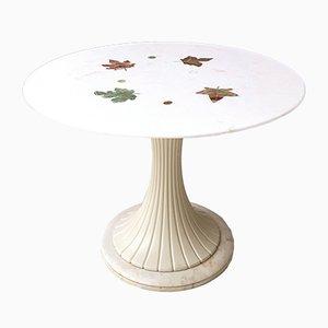 Round Marble Tulip Dining Table by Osvaldo Borsani, 1950s