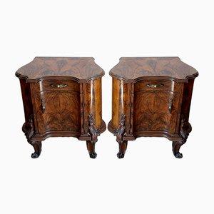 Tables de Chevet Chippendale Vintage, Italie, 1920s, Set de 2