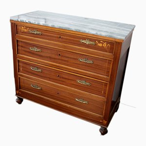 Antique Vintage Italian Art Deco Commode Chest of Drawers, 1910s